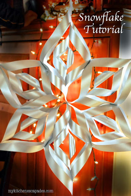 Large Paper Snowflake Tutorial