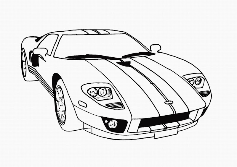 Racing Cars Coloring Pages