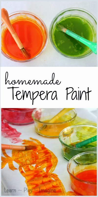 Simple tutorial to make homemade tempera paint in just two minutes!