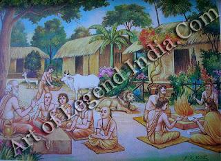 In a gurukula