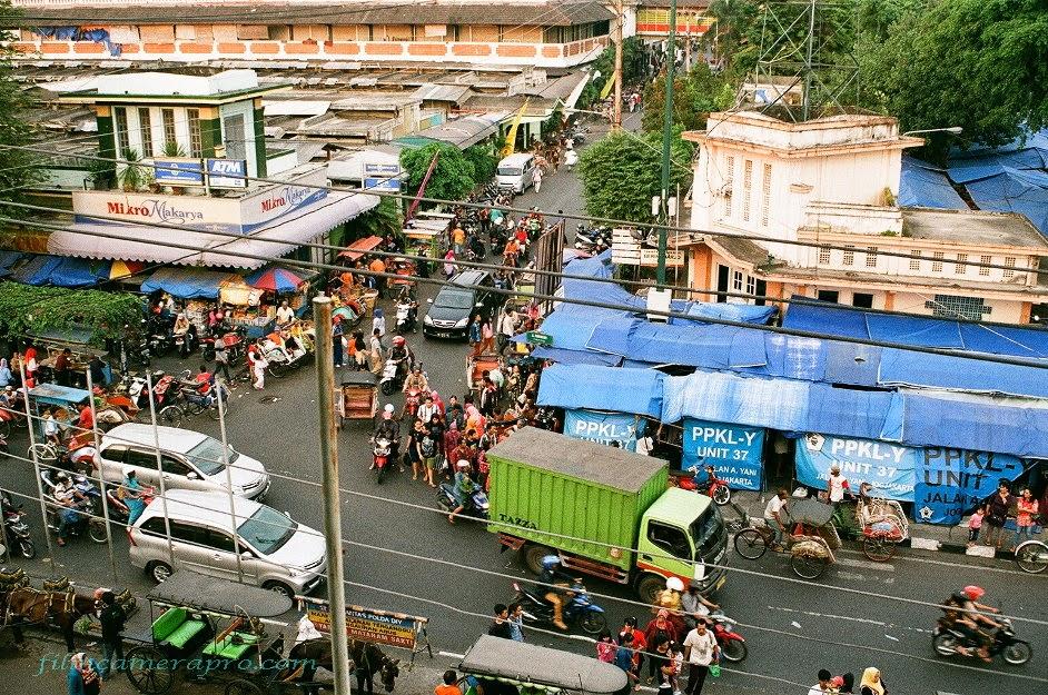Bringharjo market malioboro street