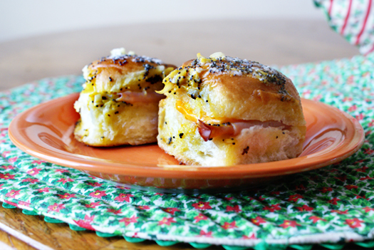 Hot Ham & Cheddar Sliders
