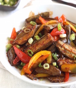 korean eggplant stir fry recipe by seasonwithspice.com