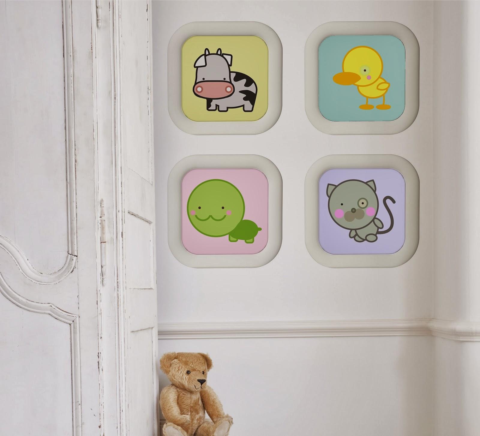 Reci n nacidos regalos diferentes dibucos - Laminas habitacion bebe ...