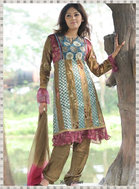 Anarkali-Umbrella-Frock-with-Churidar-Pajama