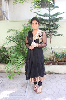 Preethi Shankar in Cute Black Designer Salwar Kameez at Anba Azhaga Movie Press Meet Stills