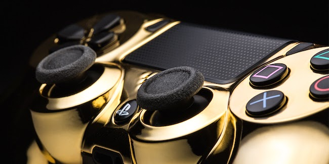 24K Gold Plated Sony Playstation 4 Controller