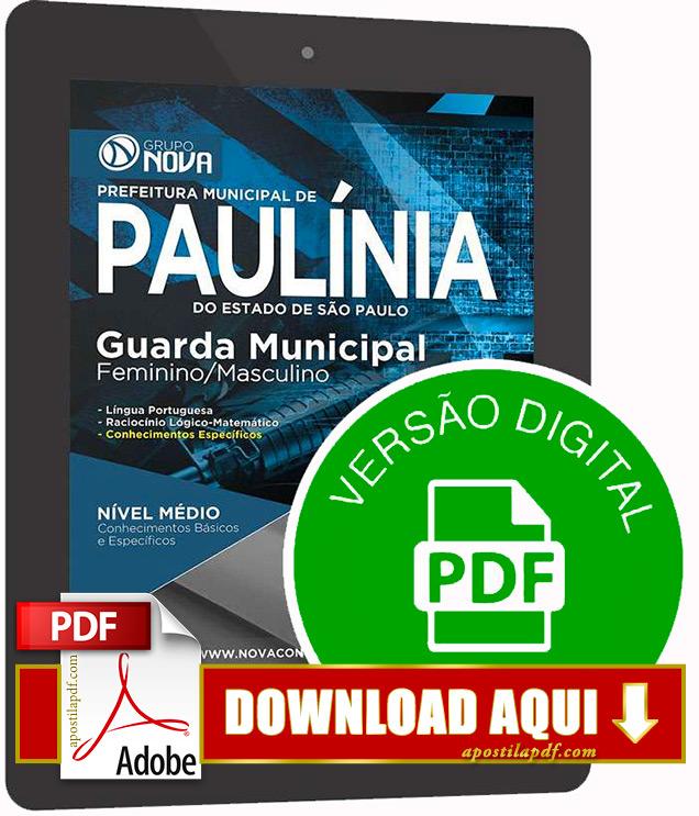 Apostila Paulínia Guarda Municipal 2015 PDF Download