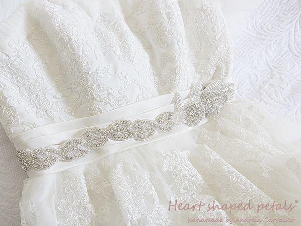 Rhinestone sash for wedding dresses
