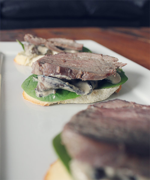 My. Daily. Randomness.: Beef Tenderloin Crostini with Blue ...