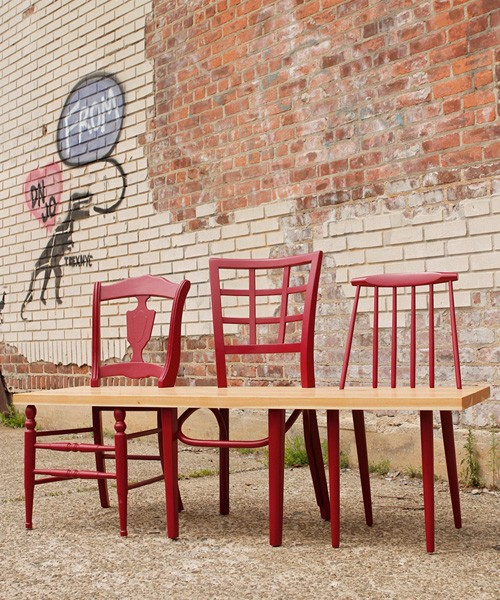 Dishfunctional designs upcycled new uses for old chairs for Banc en bois jardin