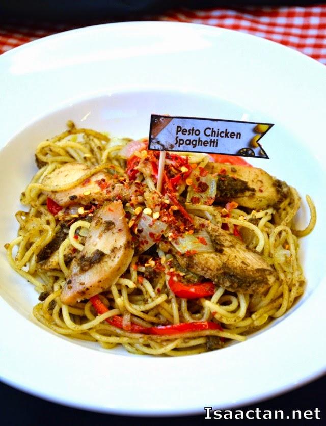 Pesto Chicken Spaghetti