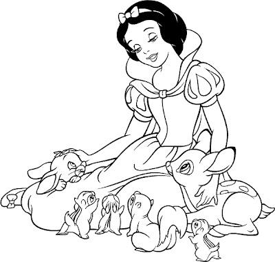 Maestra de Infantil: Blancanieves. Cuento, dibujos para colorear ...