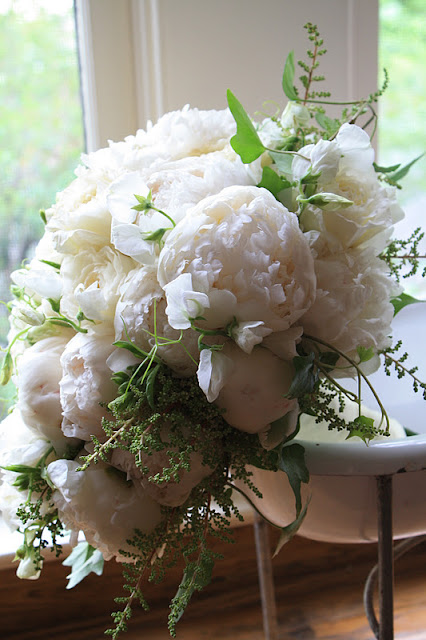 White Peony Bridal Bouqet - Splendid Stems Floral Designs