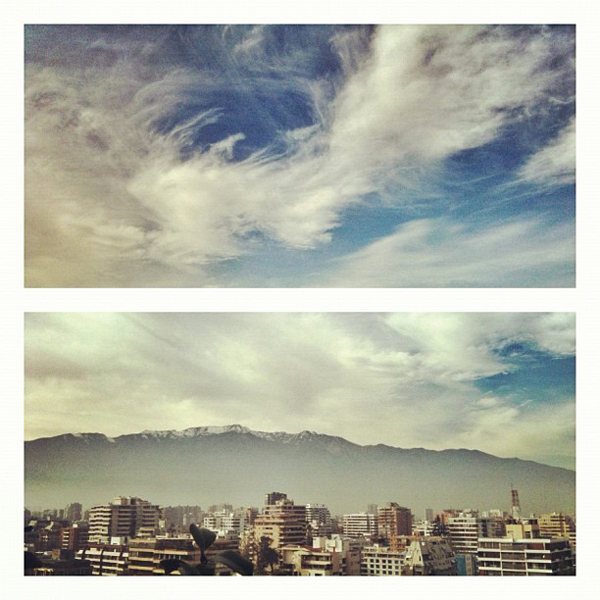 Santiago de Chile Clouds Pablo Lara H