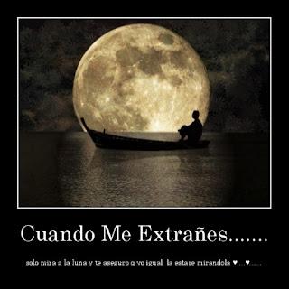 cuando me extrañes mira a la luna