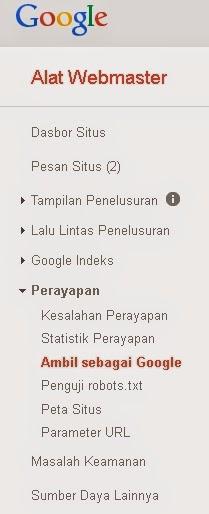 Minta Ditelusuri dan Diindex Google1