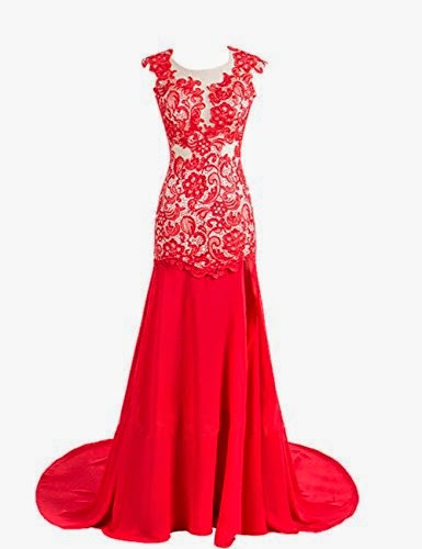 Evening Homecoming Prom Party Wedding Dress Red
