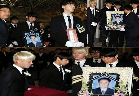 Foto Proses Pemakaman Ayah Leeteuk
