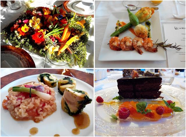La Belle Assiette, repas, fleur de courgette, risotto, gâteau, bullelodie