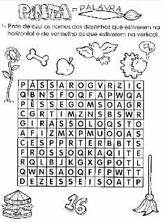 Caça-Palavras 2. Atividades para alfabetização.