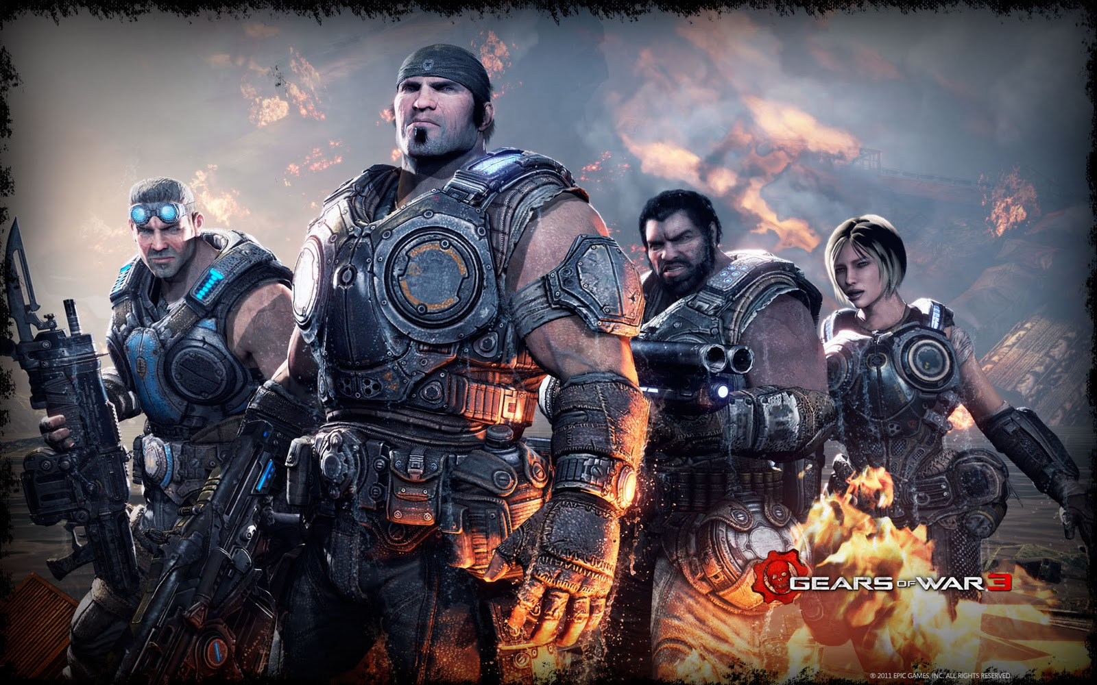 Gears of War HD & Widescreen Wallpaper 0.424614846194577