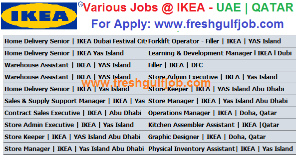 Various jobs at ikea uae qatar fresh gulf jobs Ikea security jobs