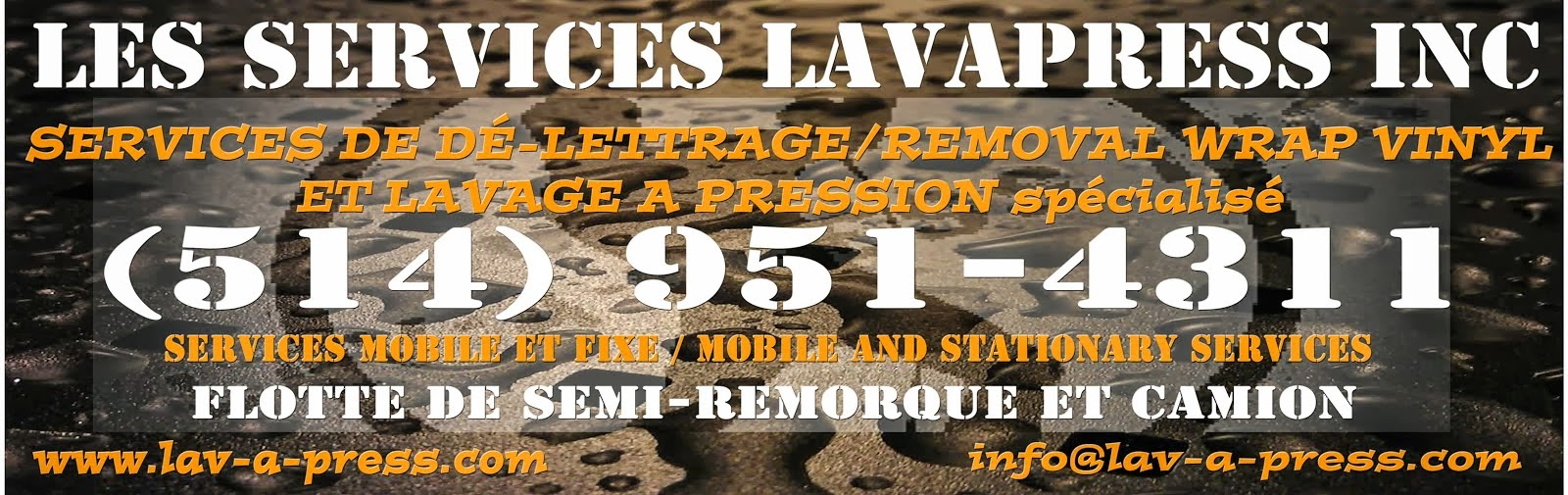 Lavage a Pression / Pressure washing