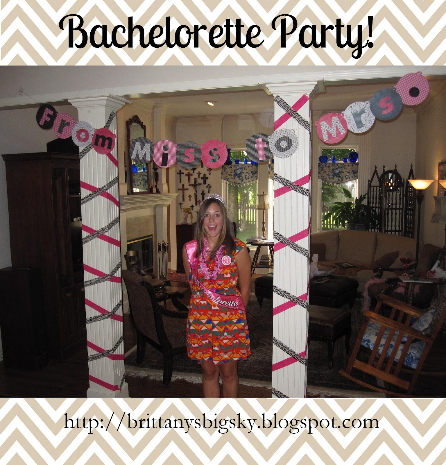 From mizzou to missoula bachelorette party decorations for Bachelorette decoration