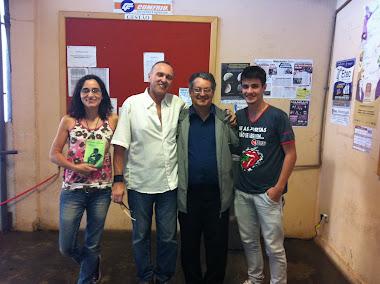 Claudia Brino, Vieira Vivo, eu e Leonardo (capa do livro)