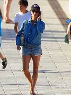 Penelope Cruz wears a Flower Bikini at Corsica, France