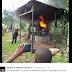 Photo: An Anambra pastor burns the Ukolo Uga shrine...