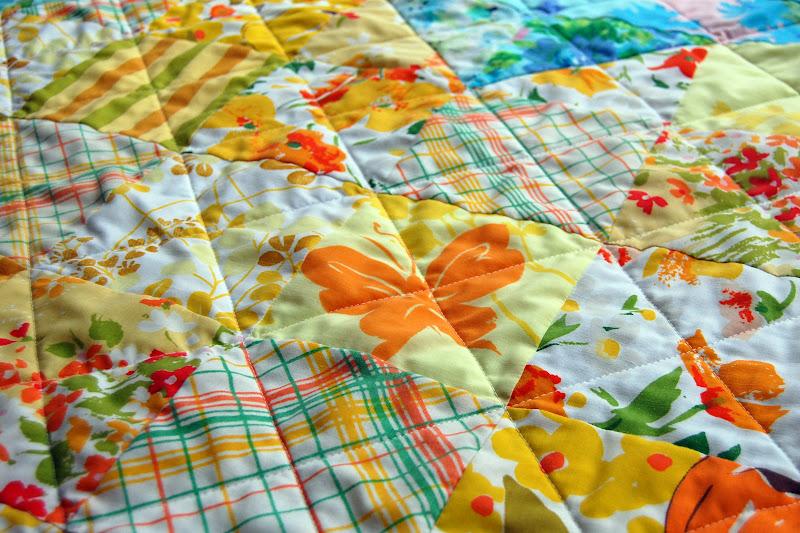 heather kojan quilts: Vintage Sheet Heart Shaped Baby Quilt Tutorial : sheet quilt - Adamdwight.com