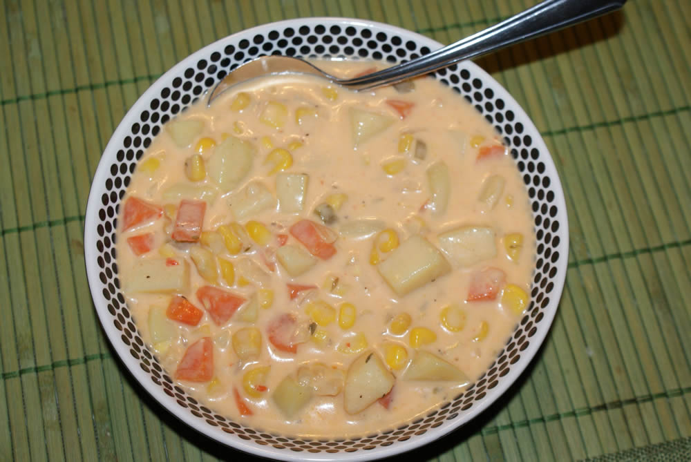 Little Bit of Everything: Roasted Red Pepper Corn Chowder
