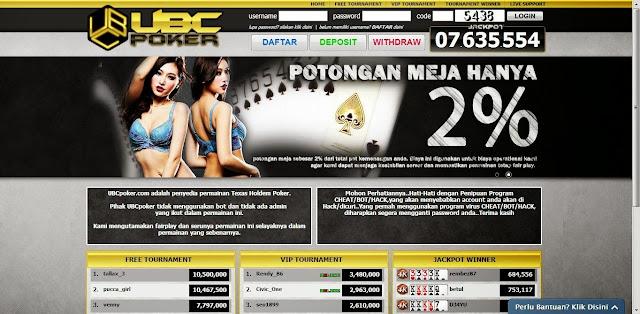 daftar judi poker online uang asli ubcpoker