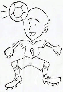Desenhos Preto e Branco Meninos e meninas jogando bola Colorir
