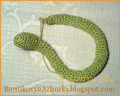 как связать змею своими руками