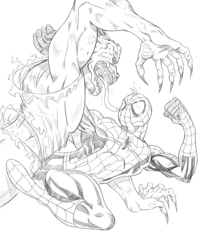 the amazing spiderman coloring pages
