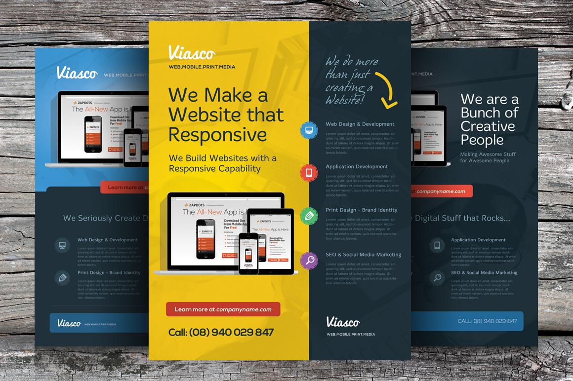 Business Modern Brochure Template Minimalist Clean Flyer