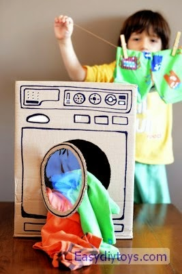 Homemade paper kitchen toys for your babies