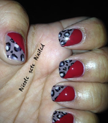 Jerseylicious Cheetah Print Red Manicure