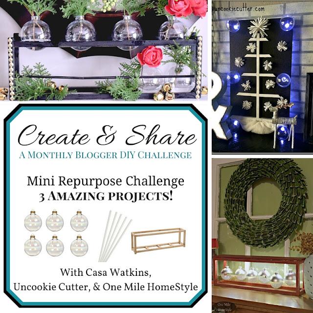 December Create and Share - Christmas Modern Wall Art - UncookieCutter.com