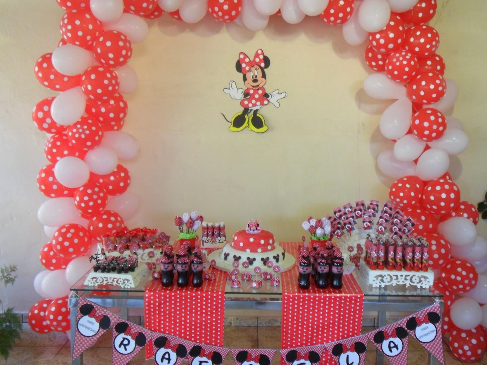 Festa Minnie Vermelha  Montando minha festa