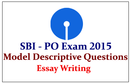 Writing Sample for Descriptive Paper in SBI PO Mains       I Gradeup