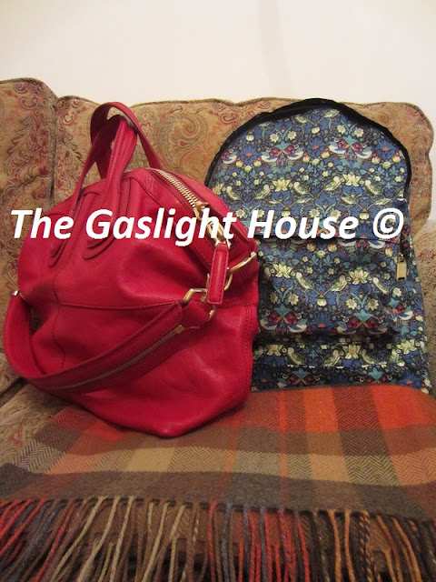 Strawberry Thief Liberty Mi-Pac flanked by Givenchy Nightingale and Avoca lambswool throw