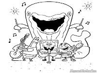 Sponge Bob Bermain Musik