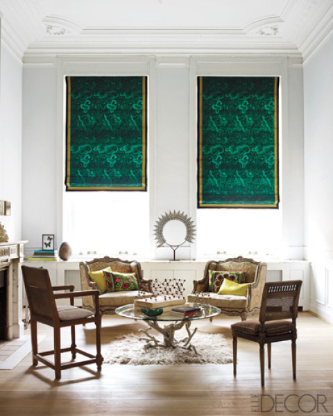 Decorating With Contrasting Colours: Design In The Woods: Window Treatments Part 1