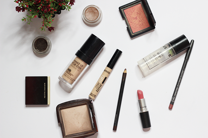 A photo of makeup products FOTD