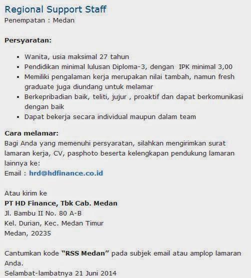 lowongan-kerja-pt-hd-finance-medan-2014