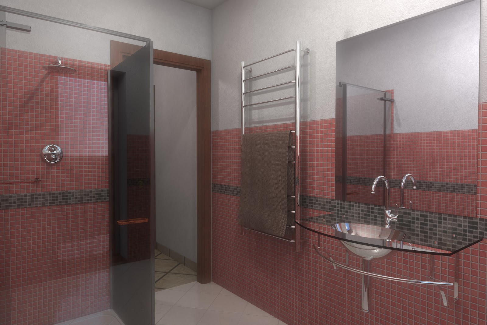 Armadi ikea camerette - Bagno mosaico rosso ...